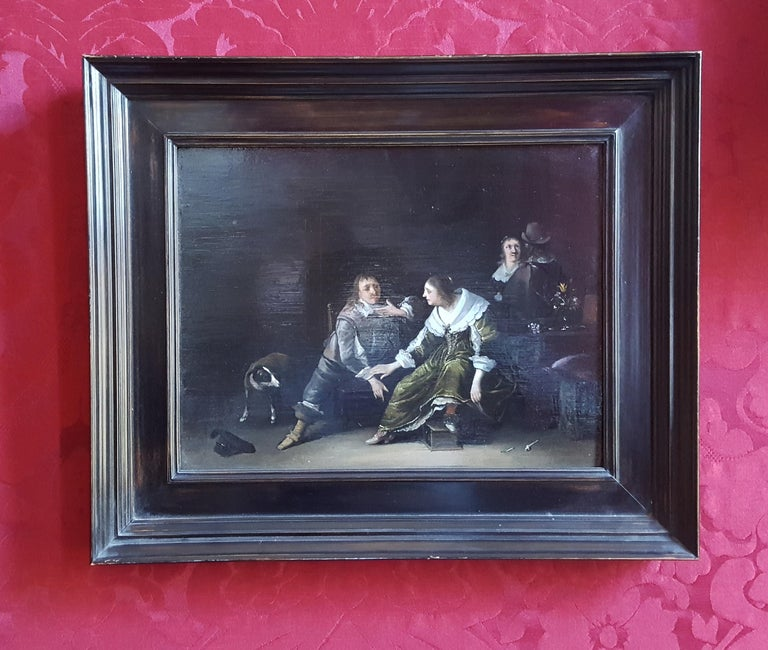 17th Century Dutch Old Master Painting by Anthonie Palamedesz Genre Scene For Sale 3