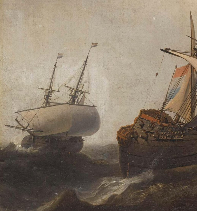 Superb Dutch 17th Century Old Master Painting by Aernout Smit Marine Provenance For Sale 2