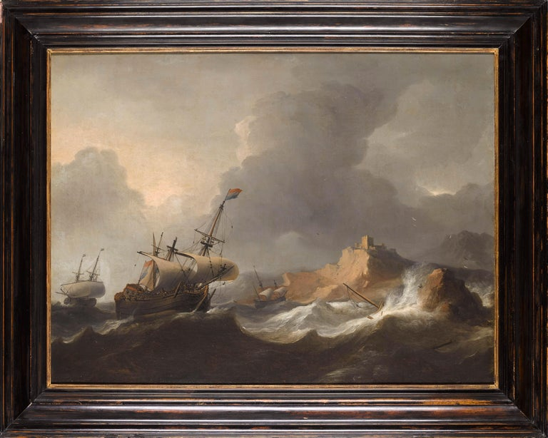 Superb Dutch 17th Century Old Master Painting by Aernout Smit Marine Provenance For Sale 5