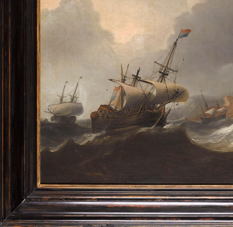 Superb Dutch 17th Century Old Master Painting by Aernout Smit Marine Provenance For Sale 6