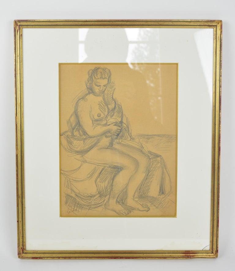 Louis Latapie Nude - Léda and the Swan