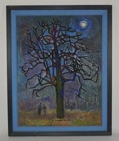 Pear Tree under the Moon