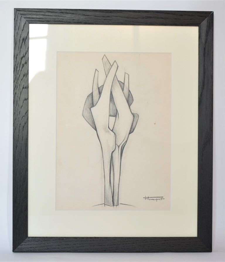 Roger Desserprit Abstract Drawing - Sculpture drawing