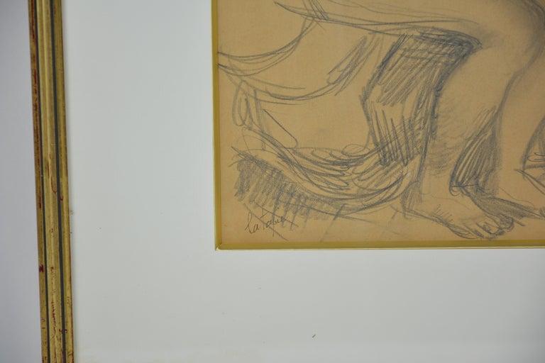 Léda and the Swan - Realist Art by Louis Latapie