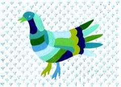 Bird Blue Otomi