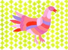 Bird Pink Otomi
