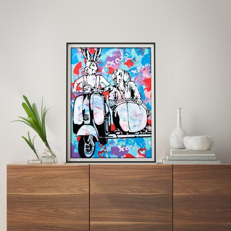 Pop Art - Painting Print - Gillie and Marc - Limited Edition- Always together For Sale 1