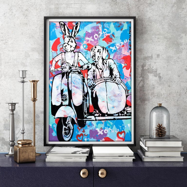 Pop Art - Painting Print - Gillie and Marc - Limited Edition- Always together For Sale 2