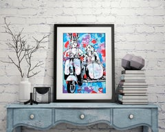 Pop Art - Painting Print - Gillie and Marc - Limited Edition- Always together
