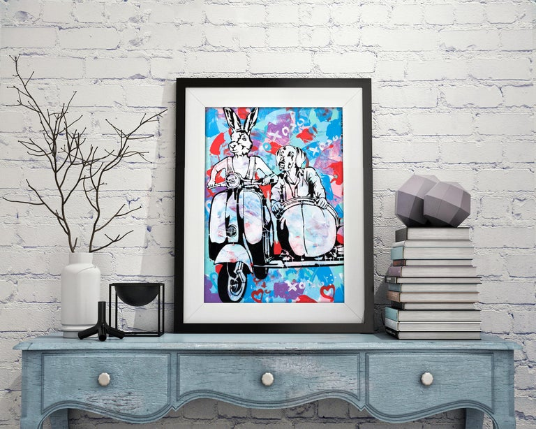 Title: They were always a couple and always would be Limited Edition Print  Gillie and Marc's paintings are signed, limited-editions and are produced on Entrada Rag Bright 300gsm, 100% acid free, 100% cotton rag paper, with a 40mm white border.
