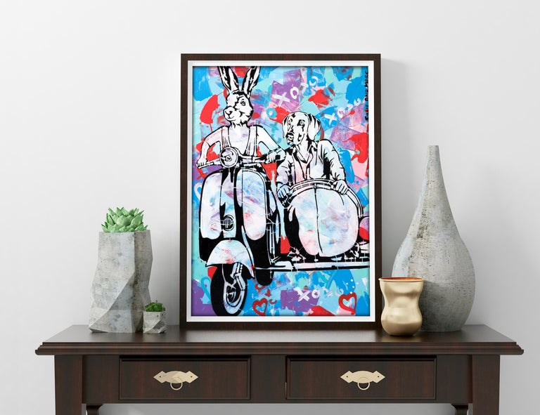 Pop Art - Painting Print - Gillie and Marc - Limited Edition- Always together For Sale 4