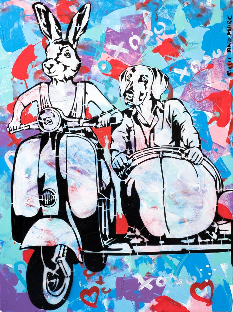 Pop Art - Painting Print - Gillie and Marc - Limited Edition- Always together For Sale 6