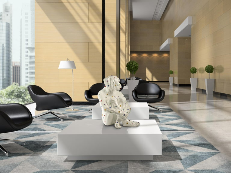 Pop Art - Sculpture - Art - Fibreglass - Gillie and Marc - Dogman - Nude - White For Sale 3