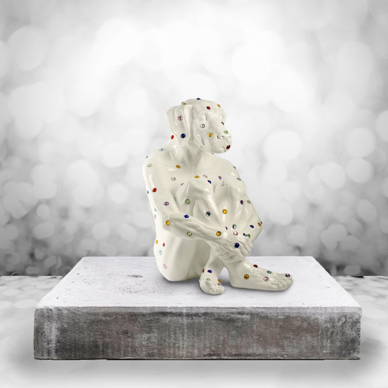 Pop Art - Sculpture - Art - Fibreglass - Gillie and Marc - Dogman - Nude - White For Sale 4