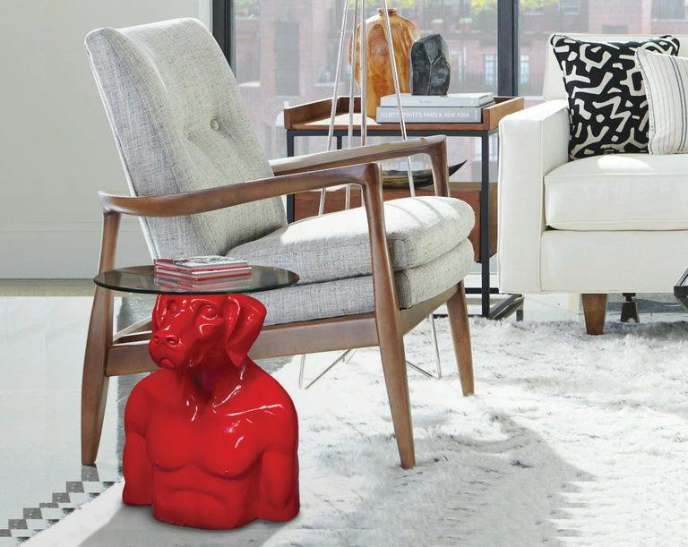 Pop Art - Sculpture - Art - Fibreglass - Gillie and Marc - Dogman - Nude - Table 5