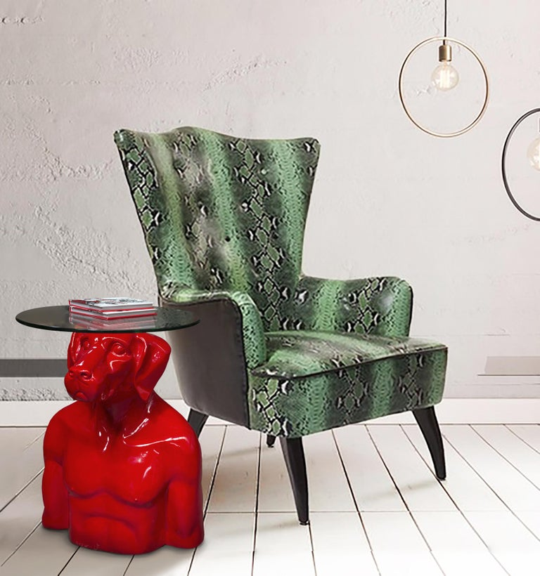 Pop Art - Sculpture - Art - Fibreglass - Gillie and Marc - Dogman - Nude - Table 6