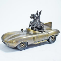 Bronze Sculpture - Limited Edition - by Gillie and Marc - Aston Martin Car