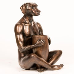 Sculpture - Art - Bronze - Gillie and Marc - Dogman - Vase - Flower - Nude