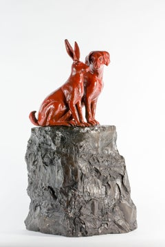 Sculpture - Art - Bronze - Gillie and Marc - Rabbit - Dog - Limited Edition