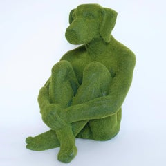 Pop Art - Sculpture - Art - Fibreglass - Gillie and Marc - Dog - Green - Grass