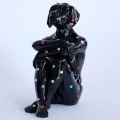 Pop Art - Sculpture - Art - Fibreglass - Gillie and Marc - Dog - Black - Jewel