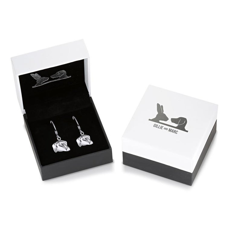 Pop Art - Sculpture - Jewellery - Gillie and Marc - Dog - Puppy - Silver Set For Sale 2