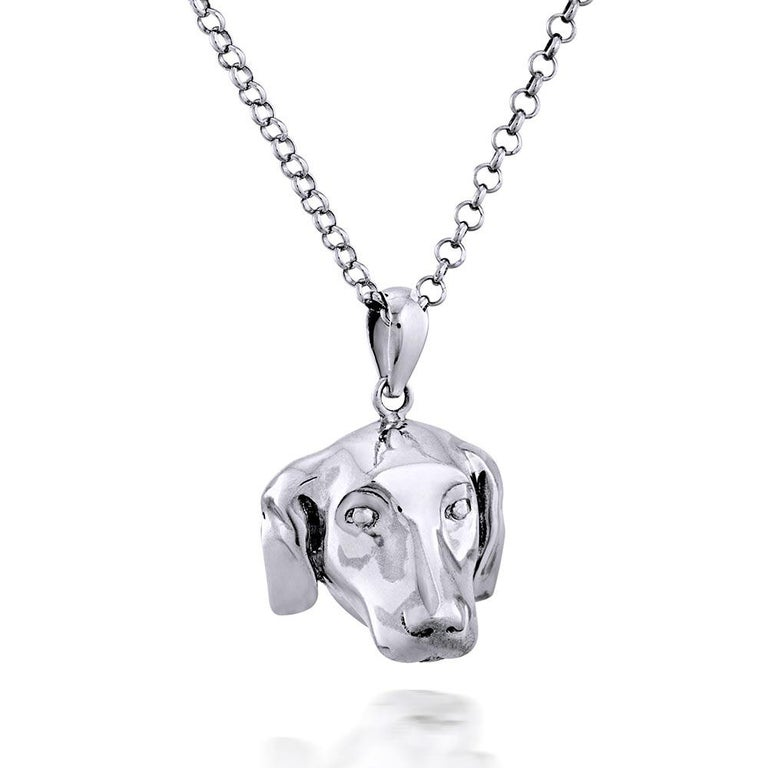 Pop Art - Sculpture - Jewellery - Gillie and Marc - Dog - Puppy - Silver Set For Sale 12