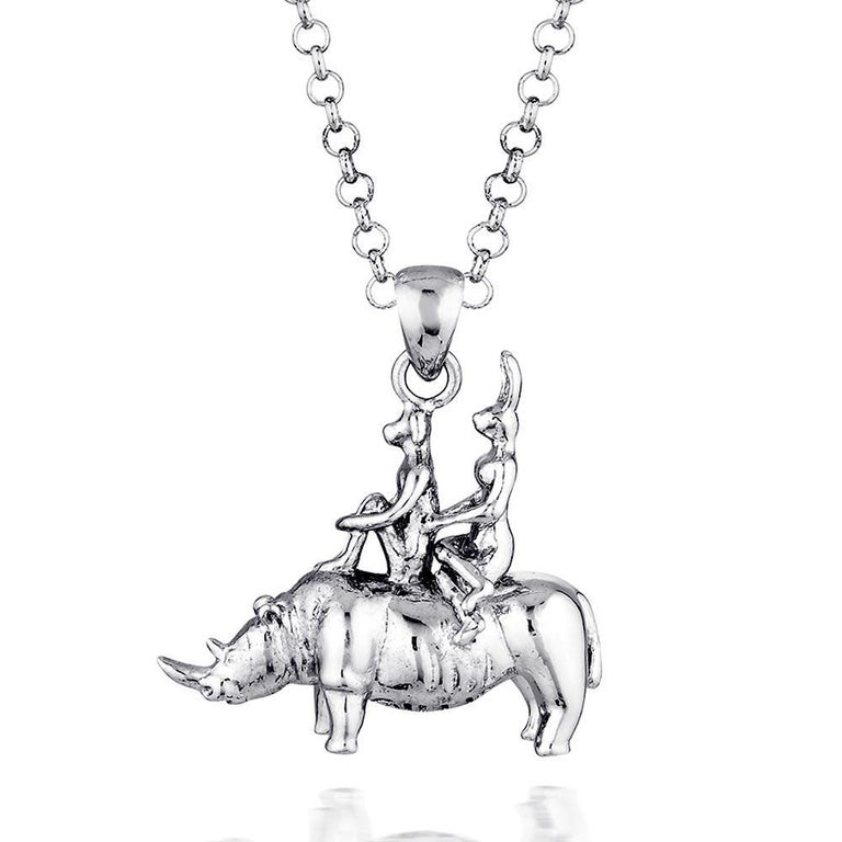Pop Art - Sculpture - Jewellery - Gillie and Marc - Love - Rhino - Silver Set For Sale 9