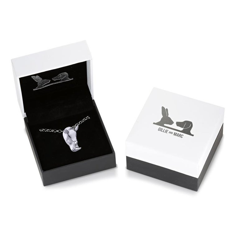 Pop Art - Sculpture - Jewellery - Gillie and Marc - Love - Rhino - Silver Set For Sale 8