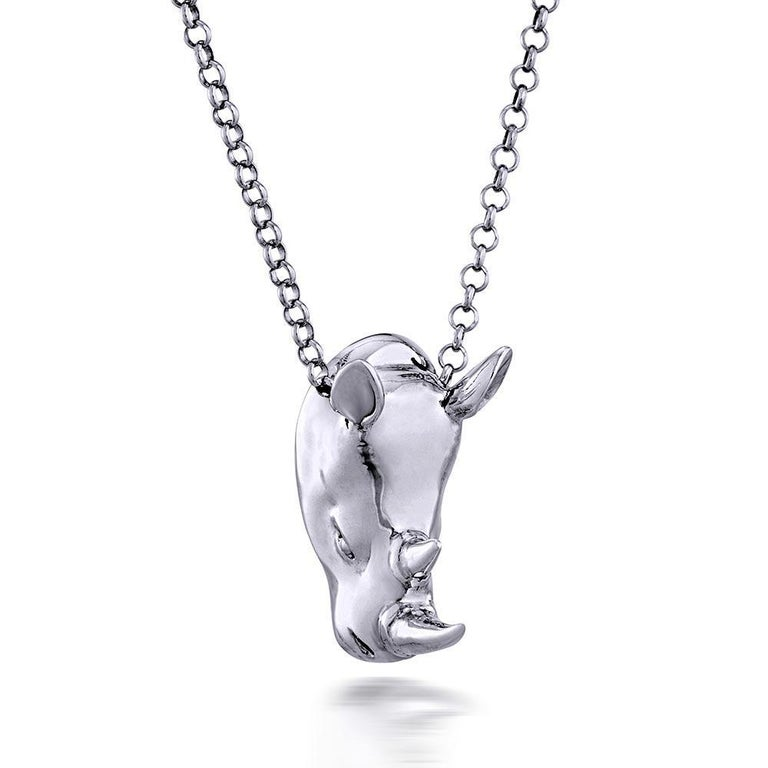 Pop Art - Sculpture - Jewellery - Gillie and Marc - Love - Rhino - Silver Set For Sale 7