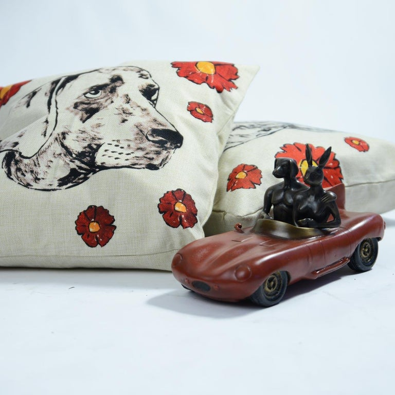 Bronze Sculpture - Limited Edition - Gillie and Marc - Red Aston Martin Car  For Sale 2