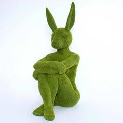 Pop Art - Sculpture - Art - Fibreglass - Gillie and Marc - Rabbit - Green Grass