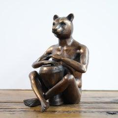 Bronze Sculpture - Limited Edition - Animal Art - Bear - Campfire Drumming