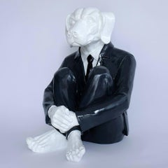 Pop Art - Sculpture - Art - Fibreglass - Gillie and Marc - Dogman - Black Tie
