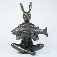Sculpture - Art - Bronze - Gillie and Marc - Rabbit - Fish - Ocean - Sea