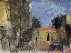 Farm in the Ardeche by Sargy Mann - Gouaches and Drawings, 20th Century