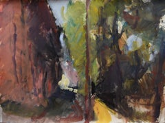 Path in Sun by Sargy Mann - Gouaches and Drawings, 20th Century
