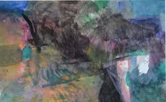 Above the hidden garden by Sargy Mann - Gouache on paper