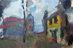 Deserted Farmhouse, Thundery Light by Sargy Mann - Gouache