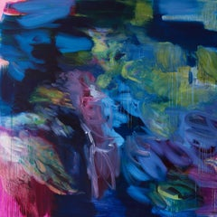 Untitled (Phalo-irgazine-magenta) by Rebecca Meanley - Abstract painting