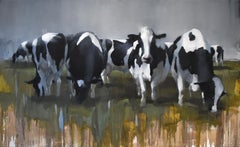 Cows III by Andrew Hunt, Figurative Realism, oil on canvas