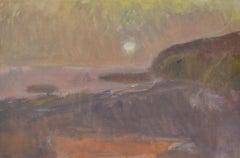 Beach Scene, dusk by Sargy Mann - Gouache on paper, Landscape