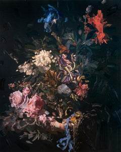 Untitled 277 by Tiffany Calvert, oil on digital print on canvas, floral painting