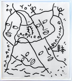 Sacrifice by Shantell Martin, Large framed drawing 2019