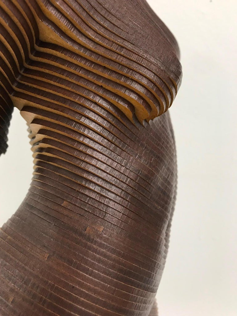 Rosie..Contemporary wood sculpture, classical nude female torso, Topology idea For Sale 6