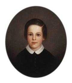 Albert Peale, Age 9, Portrait by Mary Jane Peale (1827-1902, American)