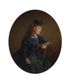The Artist, Portrait by Benoni Irwin (1840-1896, American)