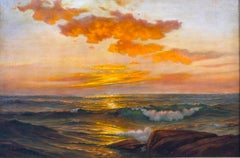 Seascape at Sunset by Adelaide Brooks Johnson (1877-1959, American)
