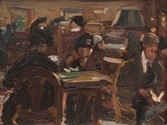New York Public Library by Theresa Ferber Bernstein (1890-2002, American)