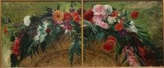 Bouquet de Fleurs, 1877, Floral Still-life by Carolus-Duran (1838-1917, French)